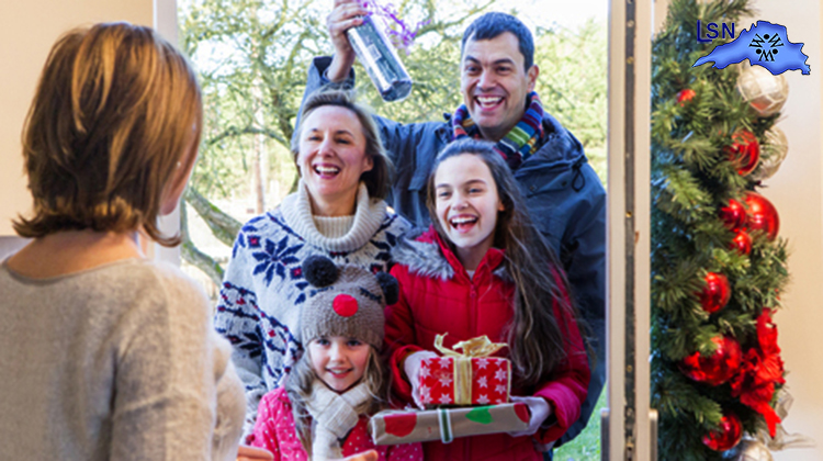 Nearly half of Canadians visited with family or friends over the winter holiday period