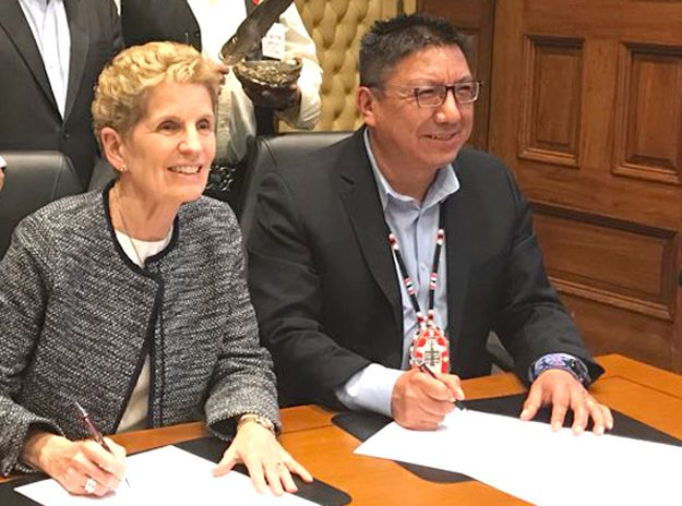 Wynne & Fiddler signs Treaty Relationship Agreement   Lake Supeiror News