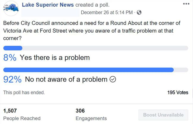 LSN Poll on Round Abours   Lake Superior News