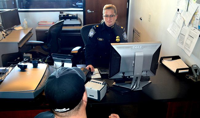 CBP  Officer Processing trusted traveler applicant  Lake Superior News