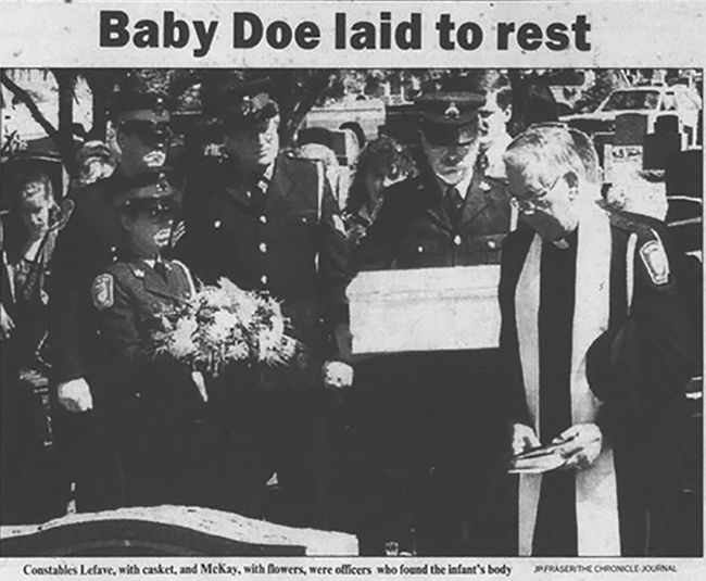 Funeral of Baby Doe  Rev Mark Dunnhill   Lake Superior News