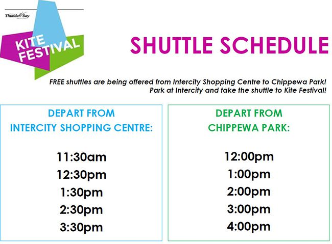 Bus Schedule  Thunder Bay Kite Festival at Chippewa Park   Lake Superior News