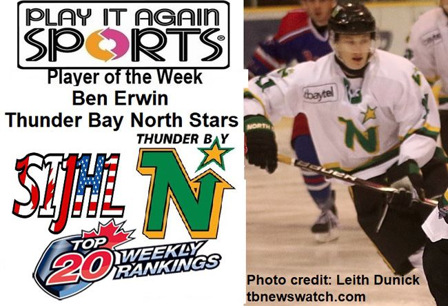 Thunder Bay North Stars forward Ben Erwin  Lake Superior News