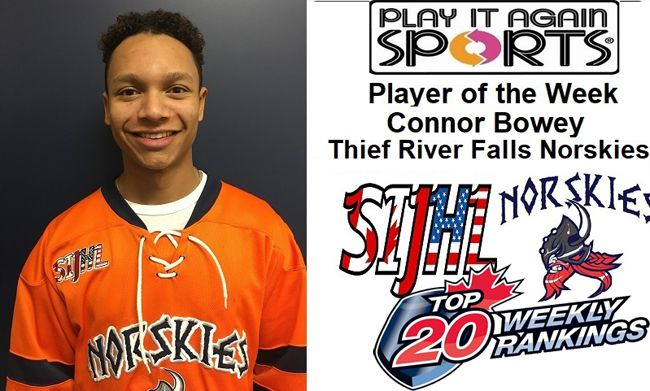 Thief River Falls Norskies defenceman Connor Bowey   Lake Superior News