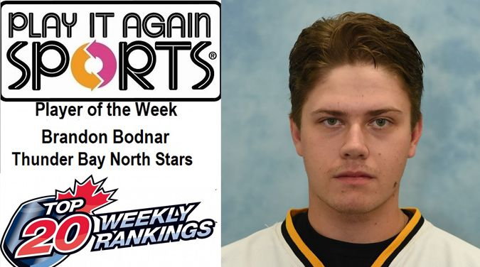 North Stars Brandon  Bodnar Player of the Week  Lake Superior News