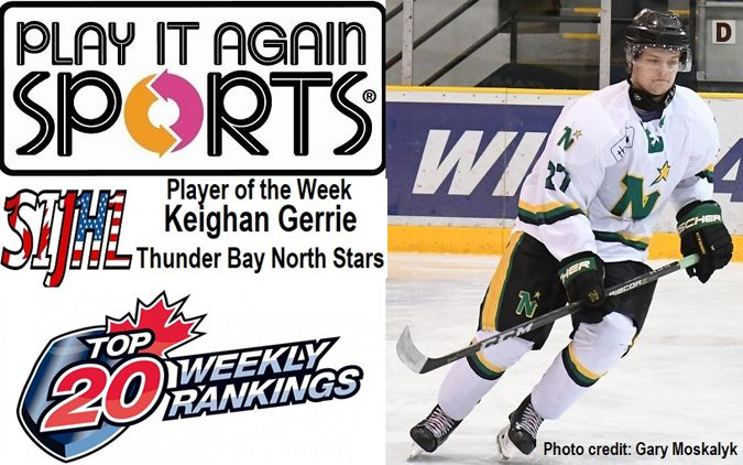 North Stars rookie forward Keighan Gerrie  Player of the Week  Lake Superior News